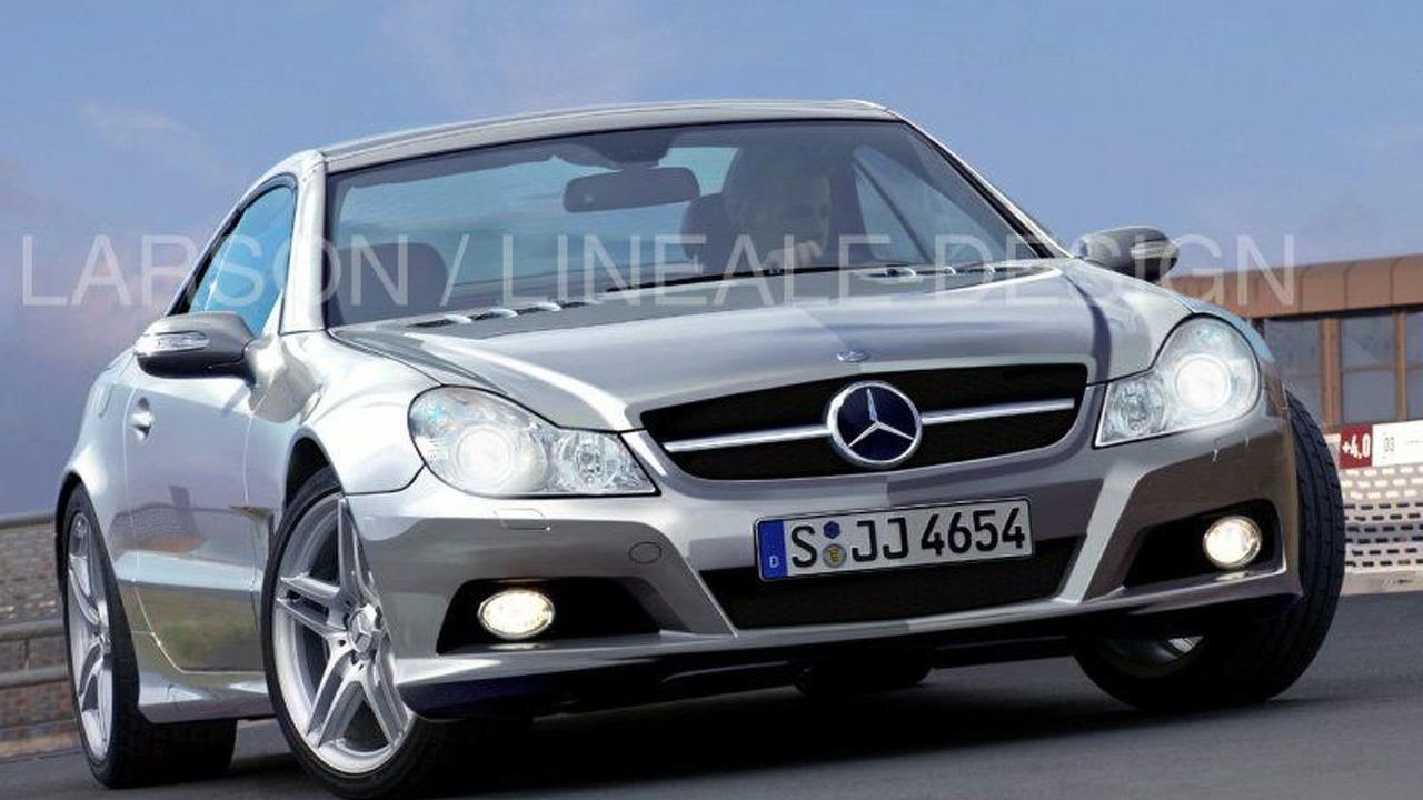 Mercedes SL Major Facelift artist rendering