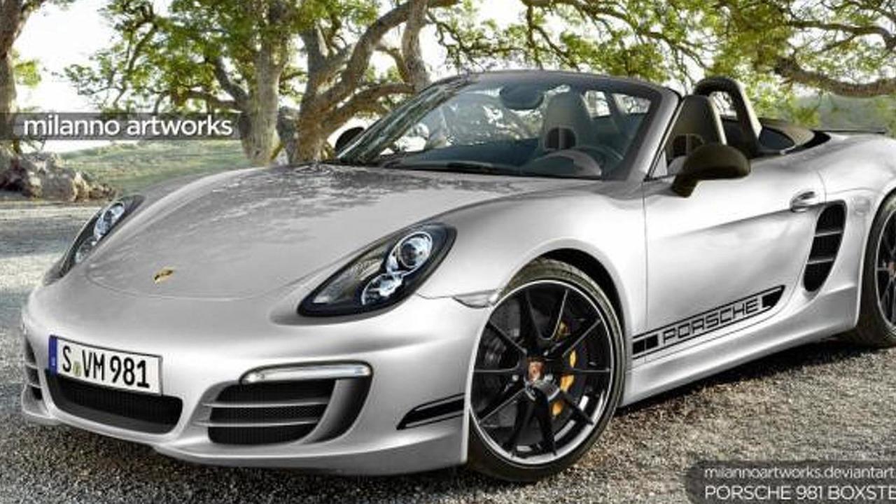 Porsche 981 Boxster R artist rendering