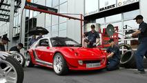 smart roadster with V6 biturbo engine