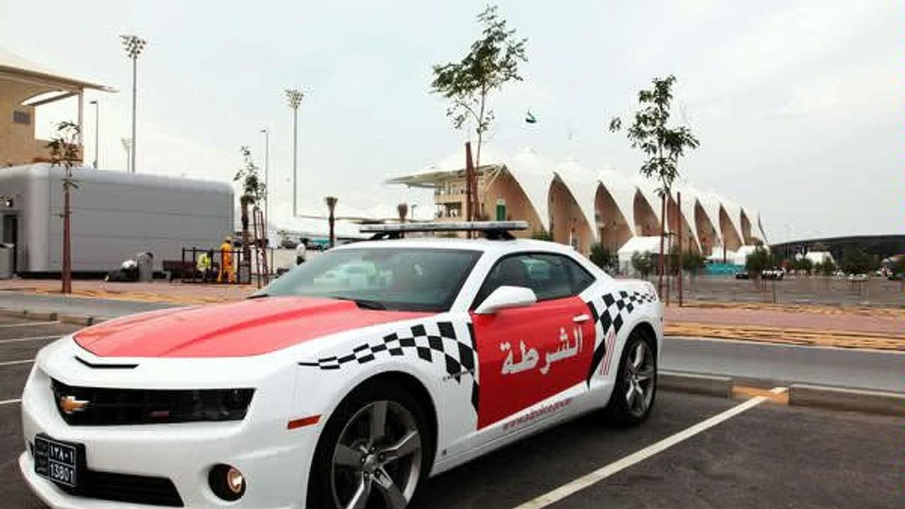 Chevrolet Camaro police car in Abu Dhabi, UAE