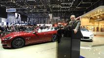 Maserati GranCabrio Sport live in Geneva, CEO Harald Weste - 01.03.2011
