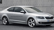 Skoda Octavia Coupe rendered
