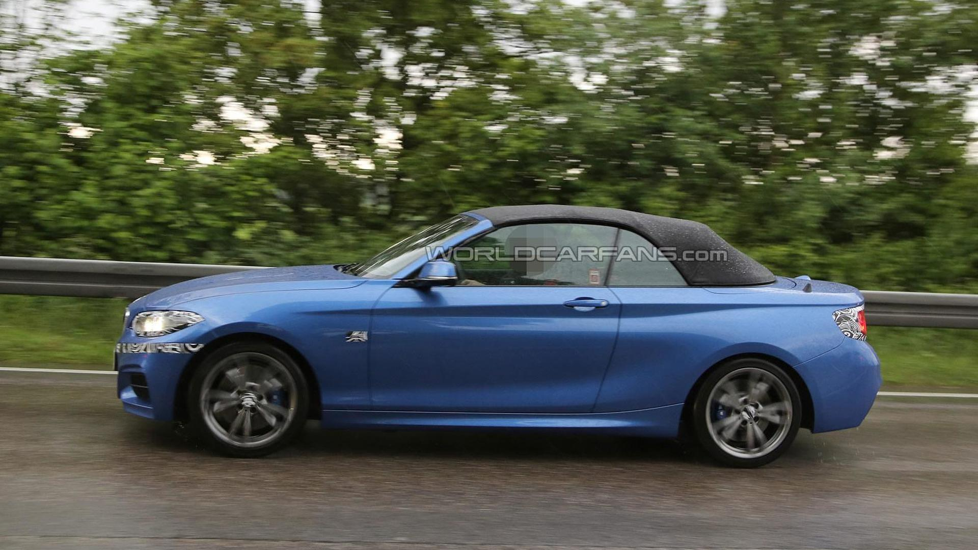 Barely disguised BMW 2-Series Convertible shows soft top in latest spy pics