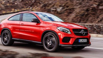 Mercedes-Benz GLE Coupe rendered without rear doors