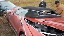 2015 Chevrolet Corvette Z06 Convertible crash