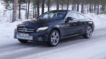 Mercedes C-Class Coupe facelift spy photo
