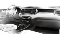Third generation Kia Sorento interior cabin teased