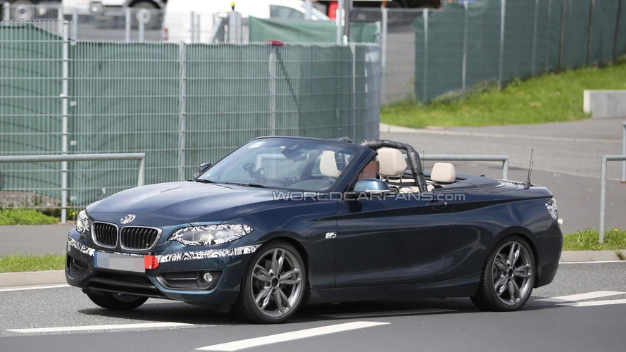 2015 BMW 2-Series Convertible spied topless