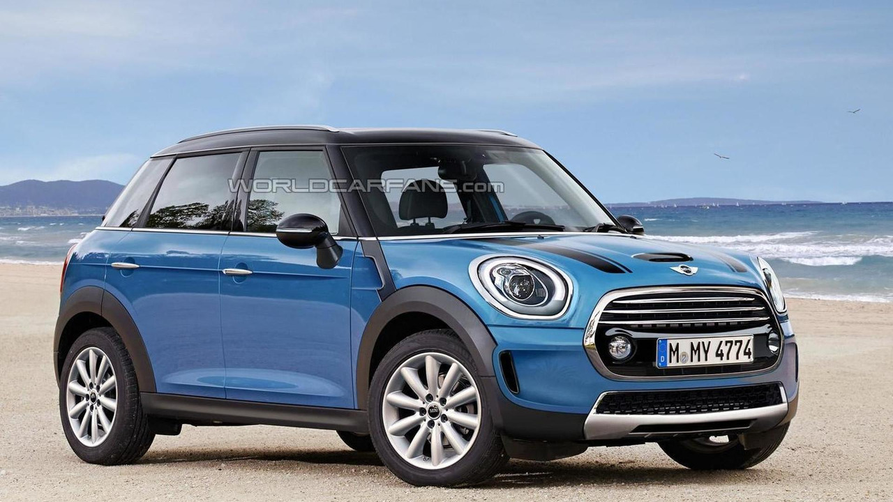 second generation mini countryman render shows plausible design. Black Bedroom Furniture Sets. Home Design Ideas