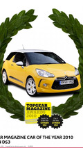 Citroën DS3 wins Top Gear Magazine's Car of the Year Award