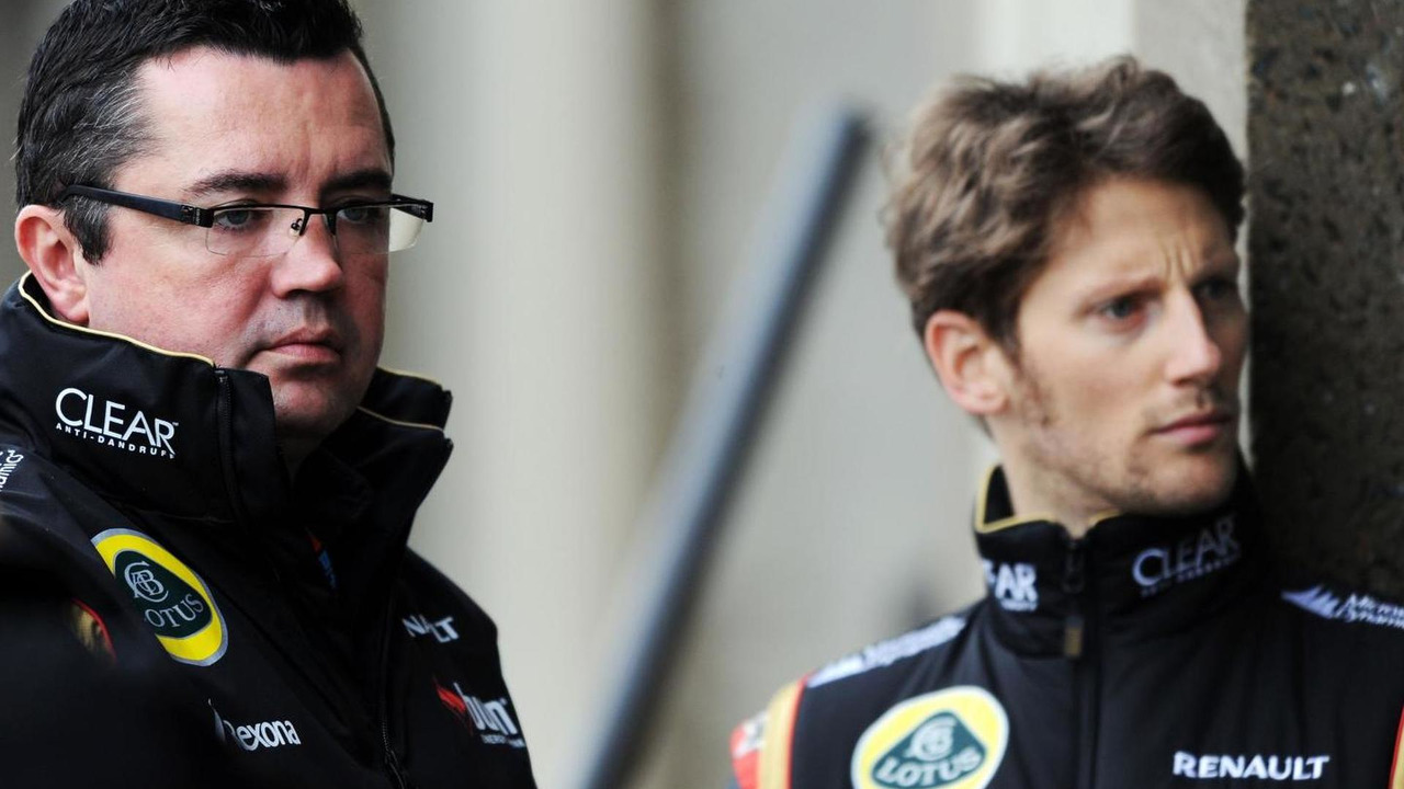 Eric Boullier with Romain Grosjean 07.06.2013 Canadian Grand Prix