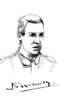 Portrait of Jean-Pierre Wimille. sketched by a Bugatti designer 24.07.2013