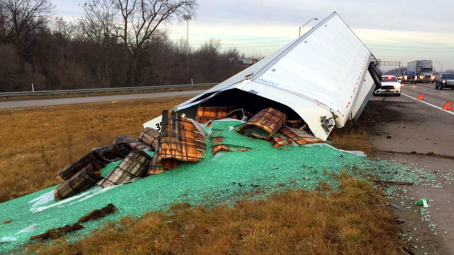 Thousands of marbles cause slippery hazard on Indiana Interstate