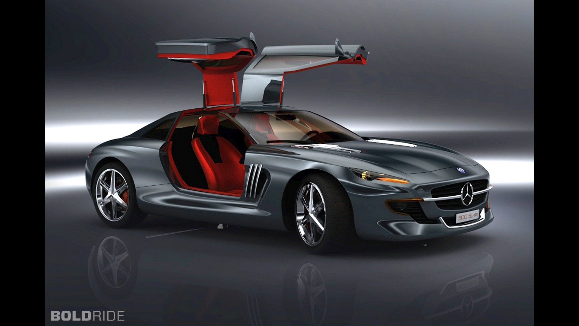 mercedes benz 300 sl gullwing concept by slimane toubal. Black Bedroom Furniture Sets. Home Design Ideas