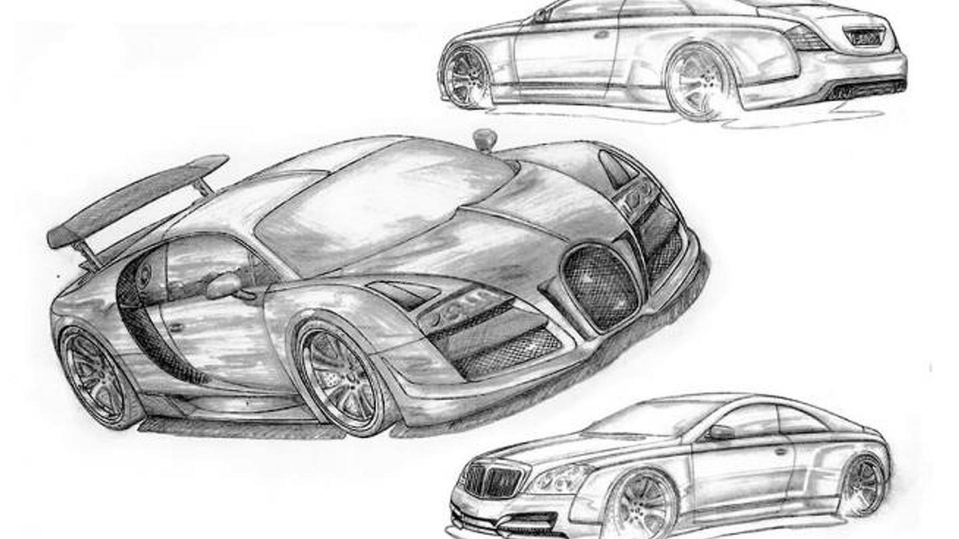 FAB Design working on a Bugatti Veyron and Maybach Coupe?