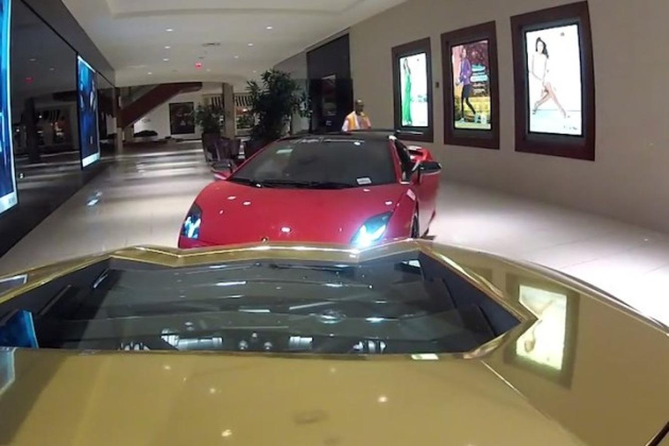 Here's 5 Lamborghinis Driving Through a Shopping Mall [Video]