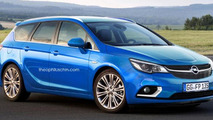 Next generation Opel Astra Sports Tourer speculatively rendered