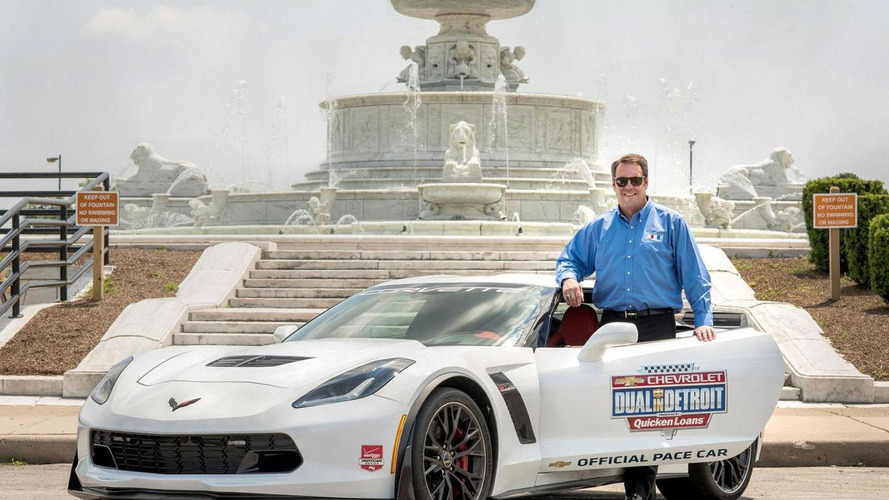 Corvette Z06 pace car unveiled for the Dual in Detroit