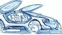 Audi Intelligent Emotion future mobility concept sketch by Maximilian Mandl