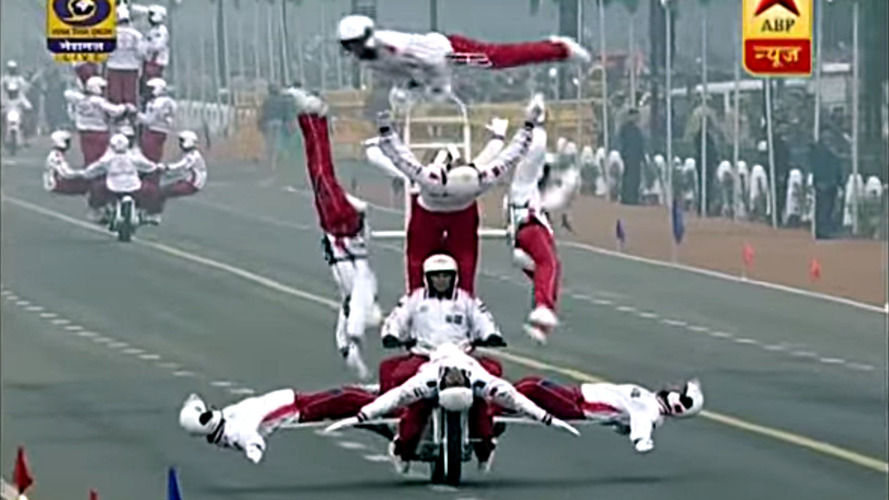 India celebrates Republic Day with rad motorcycle tricks