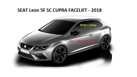 This is how the SEAT Leon Cupra facelift looks like on infotainment screen