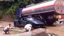 Lamborghini Aventador stuck in China