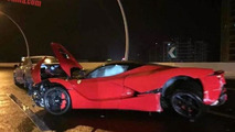 LaFerrari heavily wrecked after crashing in Shanghai