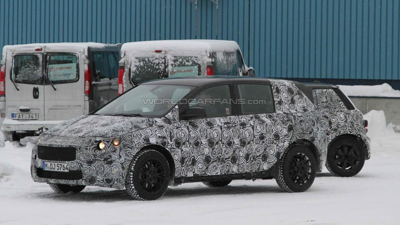 2013 BMW 1 Series GT testing front-wheel-drive system