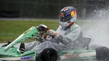 Sebastian Vettel driving Tony Kart EVK-RKF chassis at South Garda Karting circuit in Lonato Italy 28.04.2014