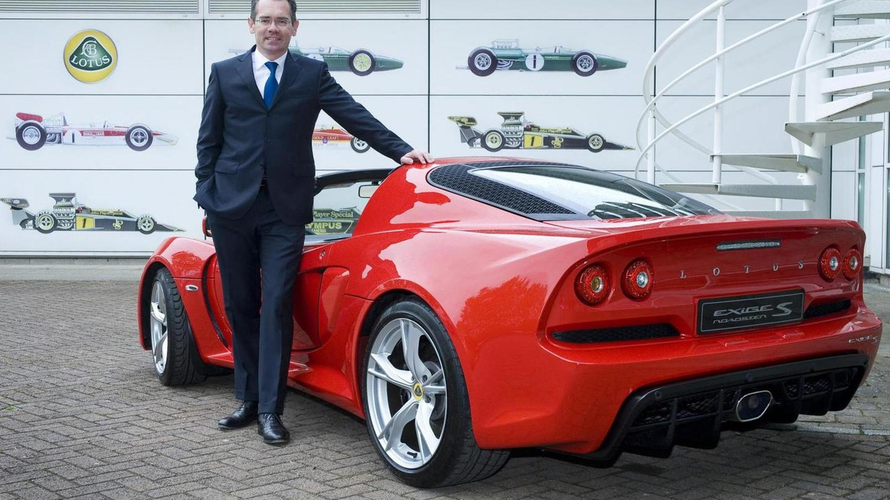 Newly appointed Lotus CEO Jean-Marc Gales