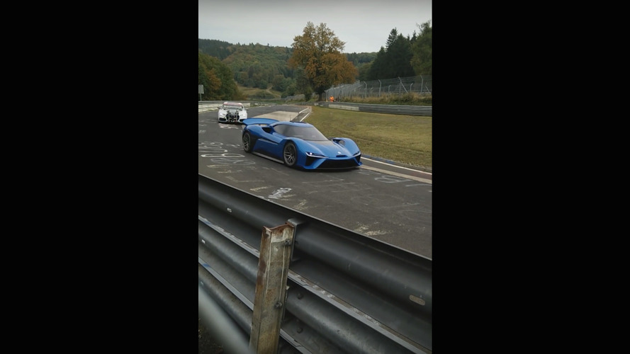NextEV 1 MegaWatt electric supercar caught testing on Nurburgring