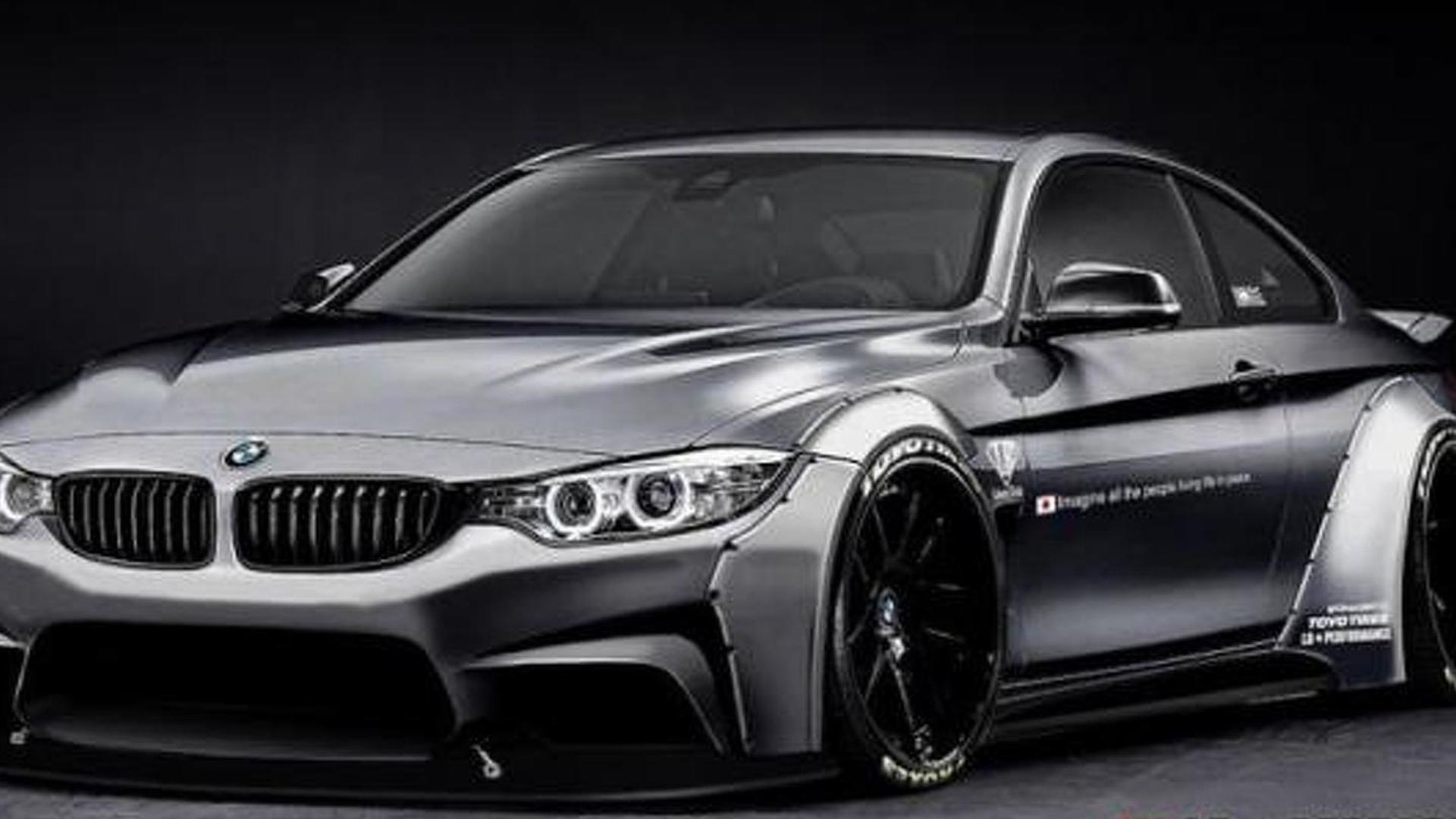 Liberty Walk fattens up BMW 4-Series Coupe with wide body kit