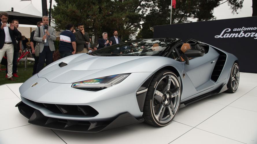Lamborghini Centenario Roadster shown for the first time in Monterey