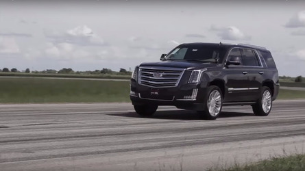 Watch an 842-hp Cadillac Escalade go from 0 to 60 in 3.9 seconds