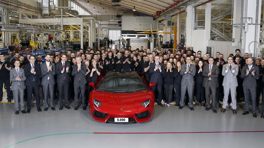 Lamborghini Aventador production hits 5,000 units