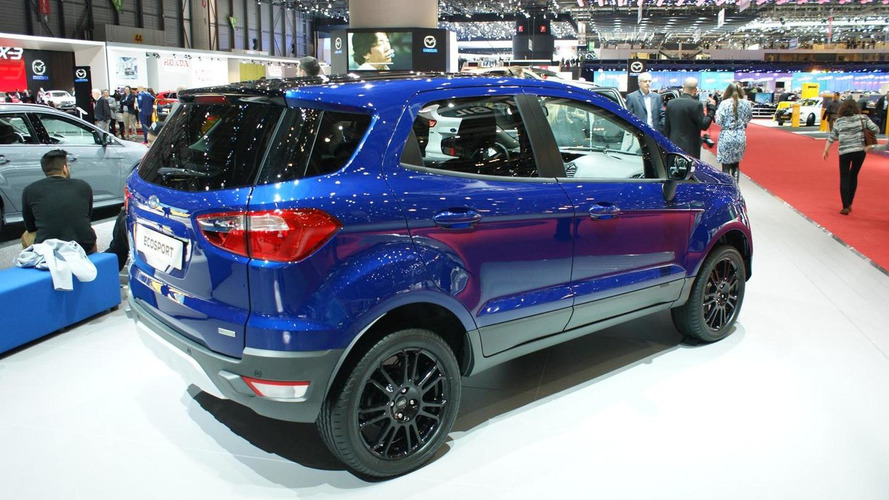 Ford EcoSport facelift arrives in Geneva without rear-mounted spare wheel