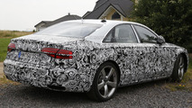 2014 Audi A8 facelift spied inside & out