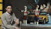 Mercedes modern classics featured in creepy fashion art installation