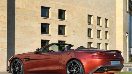 Aston Martin Vanquish Volante Q showcased at Frankfurt Motor Show