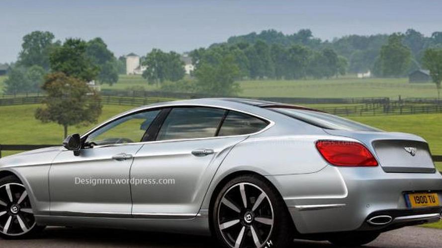 Bentley four-door coupe rendered by RM Design