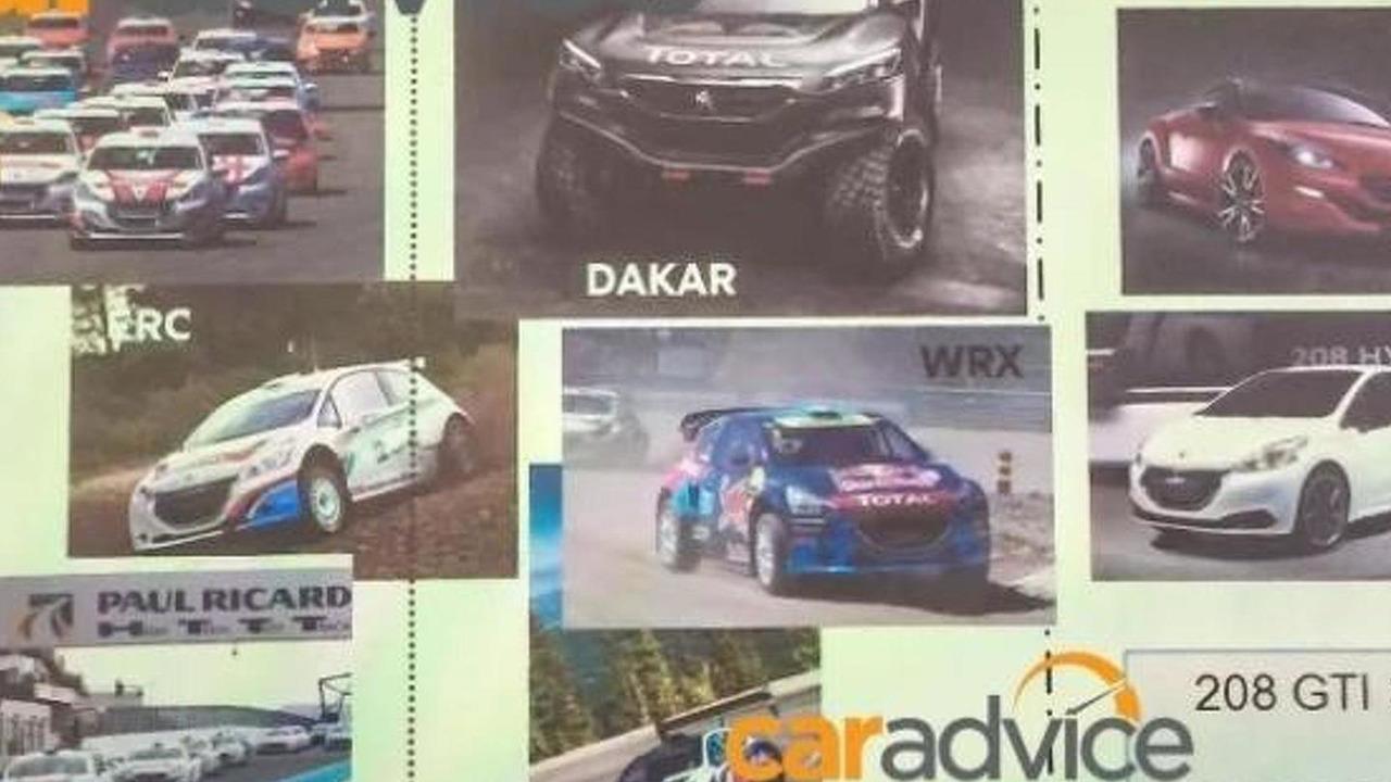 Slide from Peugeot Sport presentation