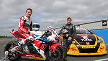 Isle of Man TT legend and BTCC champion swap machines for a race