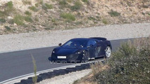2015 McLaren P13 spied wearing extensive camouflage and possibly a production body