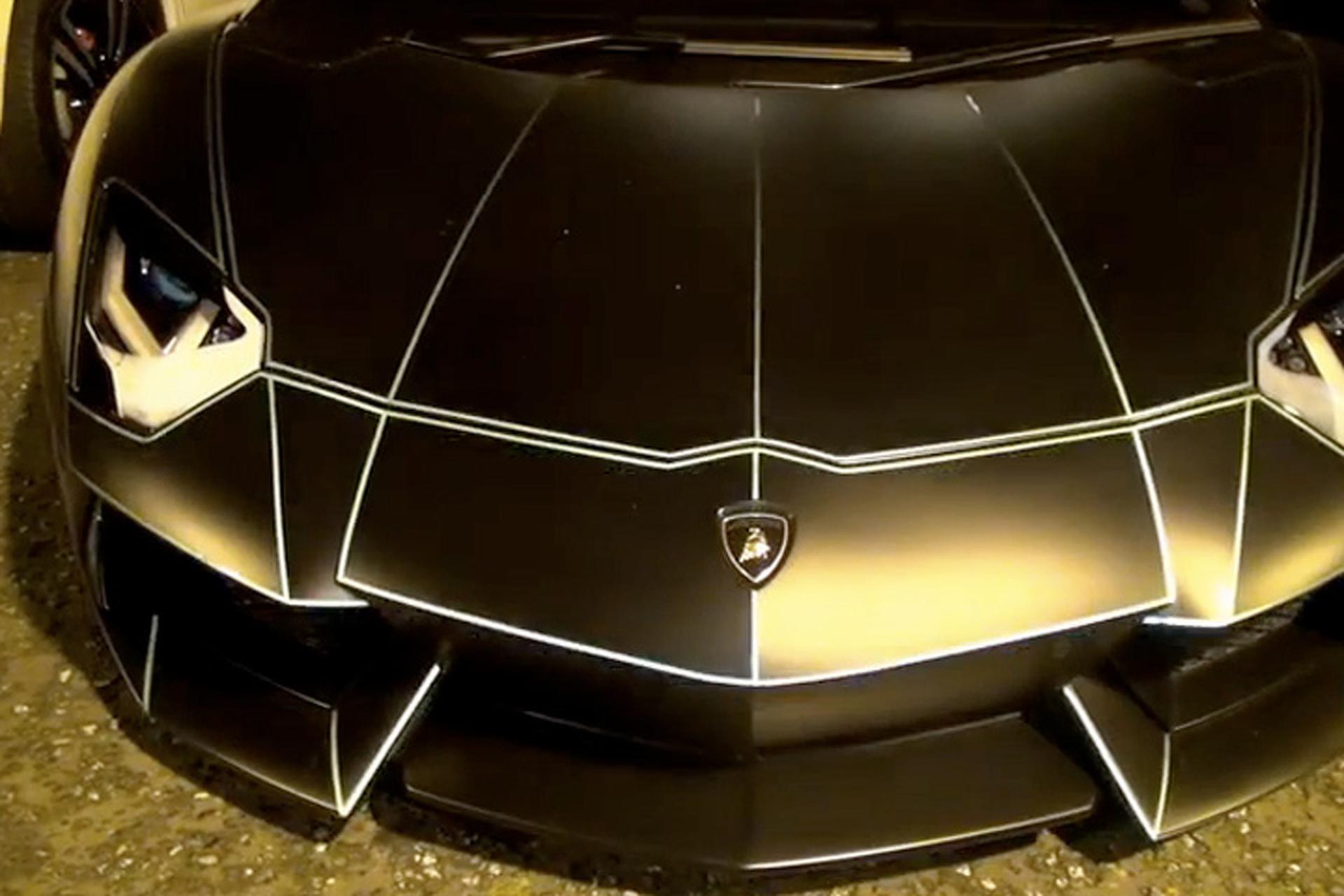 Watch this Lamborghini Aventador Glow in the Dark