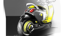 Mini electric scooter concept sketch
