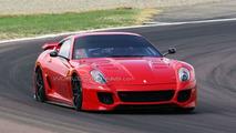 Ferrari 599XX testing at Maranello