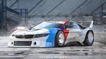 Retro render: BMW i8 as M1 Procar