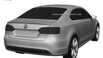 Volkswagen Jetta Coupe patents - design revealed