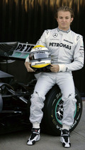 Mercedes GP W01 car launch, Nico Rosberg (GER), Valencia, Spain, 01.02.2010