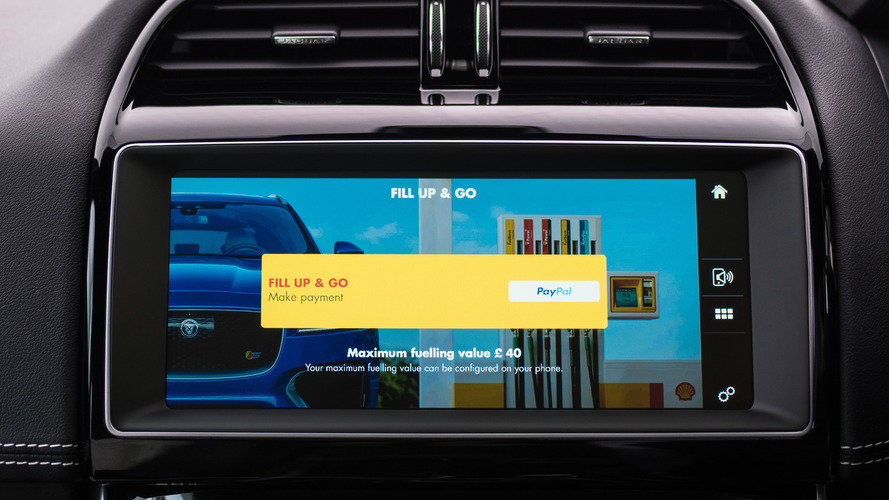 Jaguar, Shell app allows you to pay for fuel via car's touchscreen